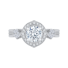 Load image into Gallery viewer, CA0178E-37W Bridal Jewelry Carizza White Gold Round Diamond Halo Engagement Rings