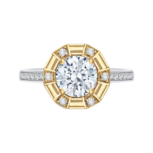 Load image into Gallery viewer, CA0182EH-37WY-1.50 Bridal Jewelry Carizza White Gold Rose Gold Yellow Gold Round Diamond Engagement Rings