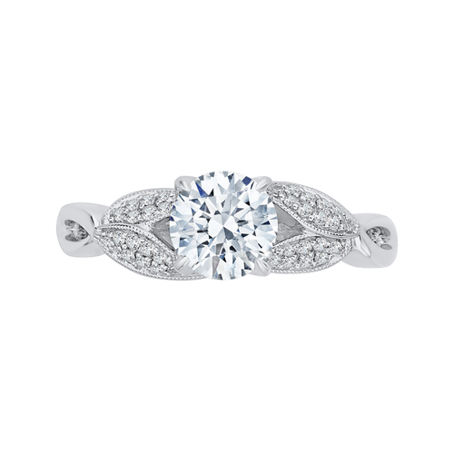 CA0188E-37W Bridal Jewelry Carizza White Gold Round Diamond Engagement Rings