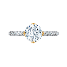 Load image into Gallery viewer, CA0191EH-37WY-1.50 Bridal Jewelry Carizza White Gold Rose Gold Yellow Gold Round Diamond Engagement Rings