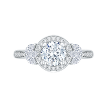 Load image into Gallery viewer, CA0198EH-37W Bridal Jewelry Carizza White Gold Round Diamond Halo Engagement Rings