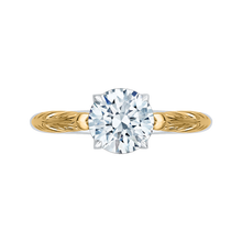 Load image into Gallery viewer, CA0199E-WY-1.50 Bridal Jewelry Carizza White Gold Rose Gold Yellow Gold Vintage Round Diamond Solitaire Engagement Rings