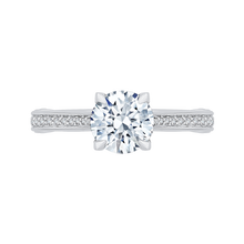 Load image into Gallery viewer, CA0202E-37W-1.50 Bridal Jewelry Carizza White Gold Round Diamond Engagement Rings