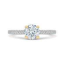 Load image into Gallery viewer, CA0207E-37WY Bridal Jewelry Carizza White Gold Rose Gold Yellow Gold Round Diamond Engagement Rings