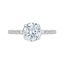 Load image into Gallery viewer, CA0208E-37W-1.50 Bridal Jewelry Carizza White Gold Round Diamond Engagement Rings