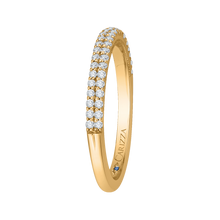 Load image into Gallery viewer, 14K Yellow Gold Round Diamond Half Eternity Wedding Band
