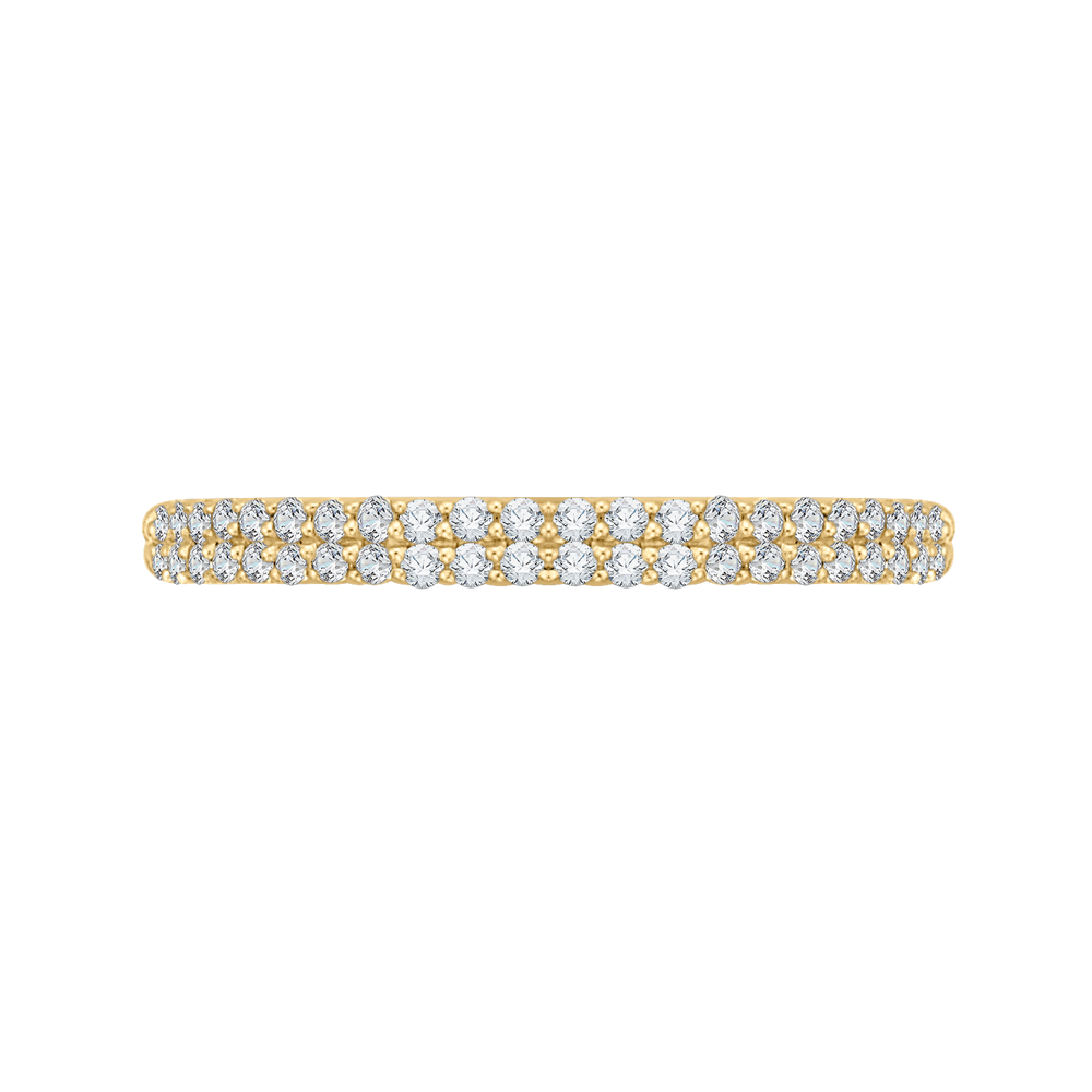 CA0211BH-37-1.50 Bridal Jewelry Carizza Yellow Gold Round Diamond Wedding Bands
