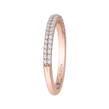 Load image into Gallery viewer, 14K Rose Gold Round Diamond Wedding Band