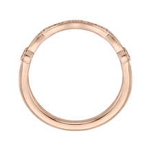 Load image into Gallery viewer, Round Diamond Wedding Band In 14K Rose Gold