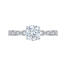 Load image into Gallery viewer, CA0213EQ-37W Bridal Jewelry Carizza White Gold Round Diamond Engagement Rings