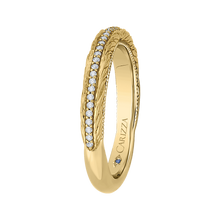 Load image into Gallery viewer, Round Diamond Wedding Band In 14K Yellow Gold