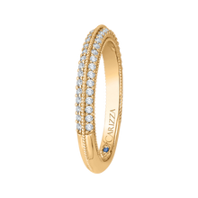 Load image into Gallery viewer, Round Diamond Half Eternity Wedding Band In 14K Yellow Gold