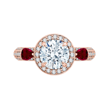 Load image into Gallery viewer, CA0217E-R37P-1.50 Bridal Jewelry Carizza Rose Gold Round Diamond Engagement Rings