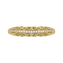 Load image into Gallery viewer, CA0219B-37 Bridal Jewelry Carizza Yellow Gold Round Diamond Wedding Bands
