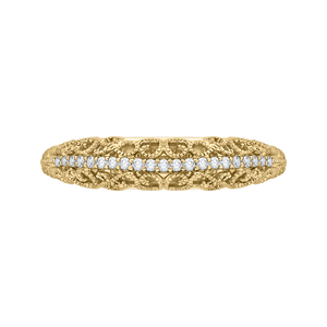 CA0219B-37 Bridal Jewelry Carizza Yellow Gold Round Diamond Wedding Bands