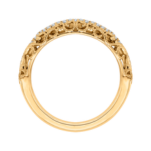 Load image into Gallery viewer, 14K Yellow Gold Round Diamond Wedding Band