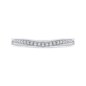 CA0225BH-37W-1.50 Bridal Jewelry Carizza White Gold Round Diamond Wedding Bands