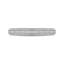 Load image into Gallery viewer, CA0229BH-37W Bridal Jewelry Carizza White Gold Round Diamond Wedding Bands
