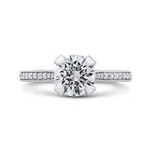 Load image into Gallery viewer, CA0230EQ-37W-1.50 Bridal Jewelry Carizza White Gold Round Diamond Engagement Rings