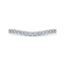 Load image into Gallery viewer, CA0232BH-37W-1.00 Bridal Jewelry Carizza White Gold Round Diamond Wedding Bands
