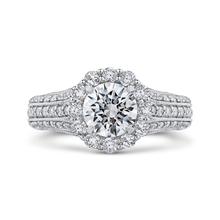 Load image into Gallery viewer, CA0237E-37W-1.00 Bridal Jewelry Carizza White Gold Round Diamond Halo Engagement Rings