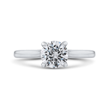 Load image into Gallery viewer, CA0240E-37W-1.00 Bridal Jewelry Carizza White Gold Round Diamond Engagement Rings