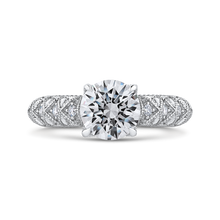 Load image into Gallery viewer, CA0241EH-37W-1.50 Bridal Jewelry Carizza White Gold Round Diamond Engagement Rings