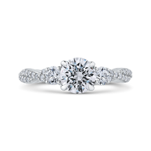 Load image into Gallery viewer, CA0246EQ-37W-1.00 Bridal Jewelry Carizza White Gold Round Diamond Engagement Rings