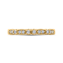 Load image into Gallery viewer, CA0247BH-37-1.00 Bridal Jewelry Carizza Yellow Gold Round Diamond Wedding Bands