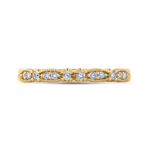 CA0247BH-37-1.00 Bridal Jewelry Carizza Yellow Gold Round Diamond Wedding Bands