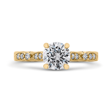 Load image into Gallery viewer, CA0247EH-37-1.00 Bridal Jewelry Carizza Yellow Gold Vintage Round Diamond Engagement Rings