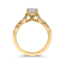 Load image into Gallery viewer, 14K Yellow Gold Round Diamond Vintage Engagement Ring (Semi Mount)