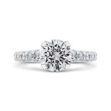 Load image into Gallery viewer, CA0249EQ-37W-2.00 Bridal Jewelry Carizza White Gold Round Diamond Engagement Rings