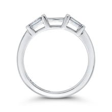 Load image into Gallery viewer, 14K White Gold Baguette Diamond Wedding Band