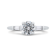 Load image into Gallery viewer, CA0251E-37W-1.00 Bridal Jewelry Carizza White Gold Round Diamond Engagement Rings