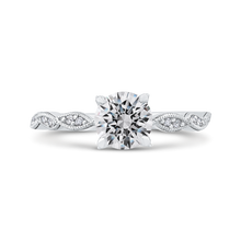 Load image into Gallery viewer, CA0259EH-37W-1.00 Bridal Jewelry Carizza White Gold Round Diamond Engagement Rings