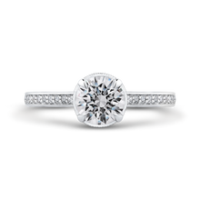 Load image into Gallery viewer, CA0261EH-37W-1.00 Bridal Jewelry Carizza White Gold Round Diamond Engagement Rings