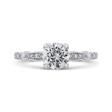 Load image into Gallery viewer, CA0263EH-37W-1.00 Bridal Jewelry Carizza White Gold Round Diamond Engagement Rings