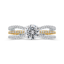Load image into Gallery viewer, CA0267EQ-37WY Bridal Jewelry Carizza White Gold Rose Gold Yellow Gold Round Diamond Engagement Rings