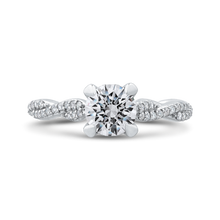 Load image into Gallery viewer, CA0269EQ-37W-1.00 Bridal Jewelry Carizza White Gold Round Diamond Engagement Rings