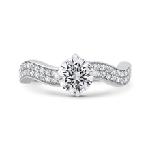 Load image into Gallery viewer, CA0272E-37W-1.00 Bridal Jewelry Carizza White Gold Round Diamond Engagement Rings