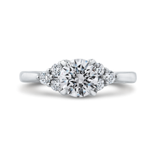 Load image into Gallery viewer, CA0274E-37W-1.00 Bridal Jewelry Carizza White Gold Round Diamond Engagement Rings