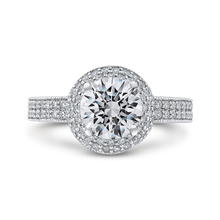 Load image into Gallery viewer, CA0277EH-37W-1.50 Bridal Jewelry Carizza White Gold Round Diamond Engagement Rings
