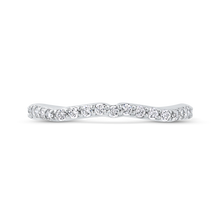 Load image into Gallery viewer, CA0278BQ-37W-1.00 Bridal Jewelry Carizza White Gold Round Diamond Wedding Bands