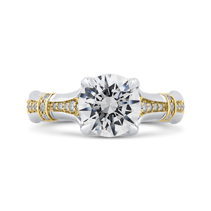 CA0279EH-37WY-2.00 Bridal Jewelry Carizza White Gold Rose Gold Yellow Gold Round Diamond Engagement Rings