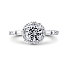 Load image into Gallery viewer, CA0280EH-37W-1.00 Bridal Jewelry Carizza White Gold Round Diamond Halo Engagement Rings