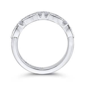 14K White Gold Round Diamond Wedding Band