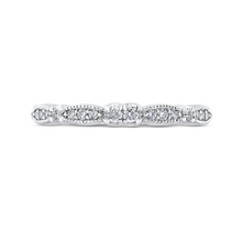 Load image into Gallery viewer, CA0281B-37W-1.50 Bridal Jewelry Carizza White Gold Round Diamond Wedding Bands