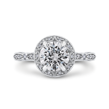 Load image into Gallery viewer, CA0281E-37W-1.50 Bridal Jewelry Carizza White Gold Round Diamond Halo Engagement Rings