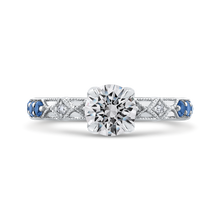 Load image into Gallery viewer, CA0285E-S37W Bridal Jewelry Carizza White Gold Round Diamond Engagement Rings